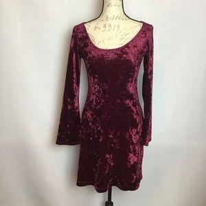 Morbid Threads- Crushed Velvet Skater Dress